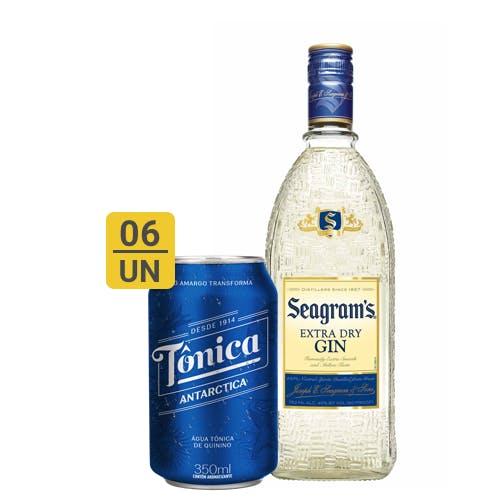 Combo Tônica +  Seagram's (6 Tônica 350ml + 1 Seagram's Gin Extra Dry Americano 750ml)
