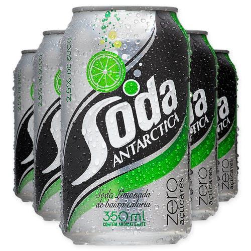Soda Antarctica Zero 350ml - Caixa com 12 Unidades
