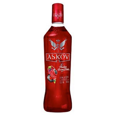 Vodka Askov Sabores Frutas Vermelhas 900ml