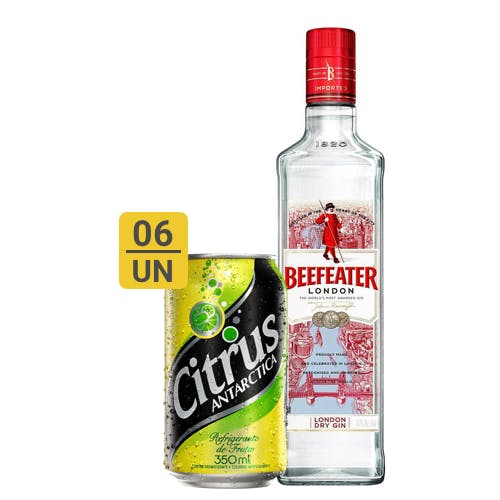 Combo Citrus + Beefeater  (6 Citrus 350ml + 1 Beefeater Dry Gin Inglês 750ml)