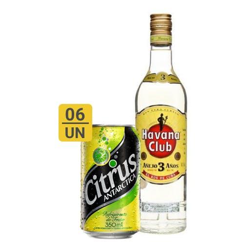 Combo Citrus + Havana  (6 Citrus 350ml + 1 Havana Club Rum 3 Anos Cubano 750ml)