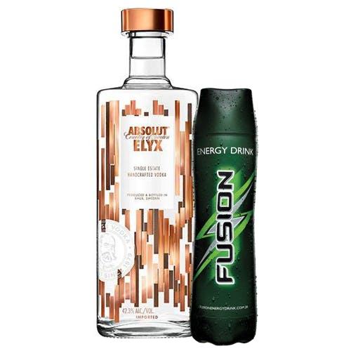 Combo Fusion + Absolut  (1 Fusion 1L + 1 Absolut Elyx Vodka Sueca  1,5L)