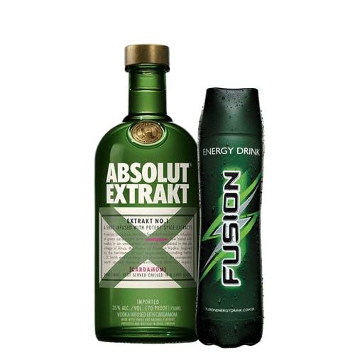 Combo Fusion + Absolut  (1 Fusion 1L + 1 Absolut Vodca Extrakt Sueca 750ml)