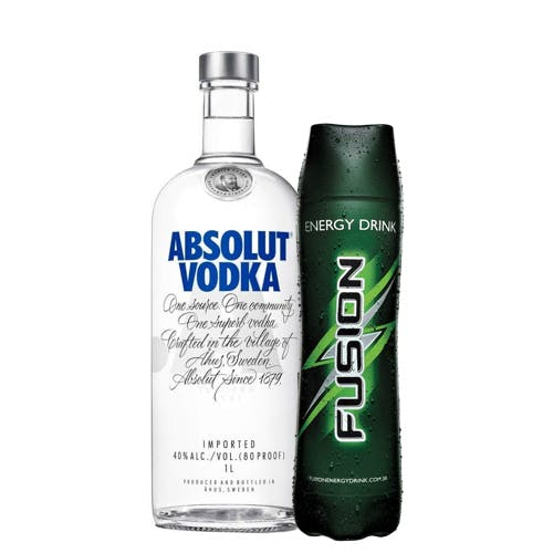 Combo Fusion + Absolut  (1 Fusion 1L + 1 Absolut Vodka Original Sueca 1L)