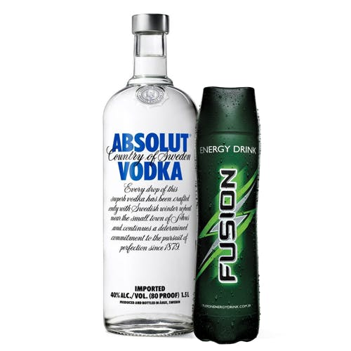Combo Fusion + Absolut  (1 Fusion 1L + 1 Absolut Vodka Original Sueca 1,5L)