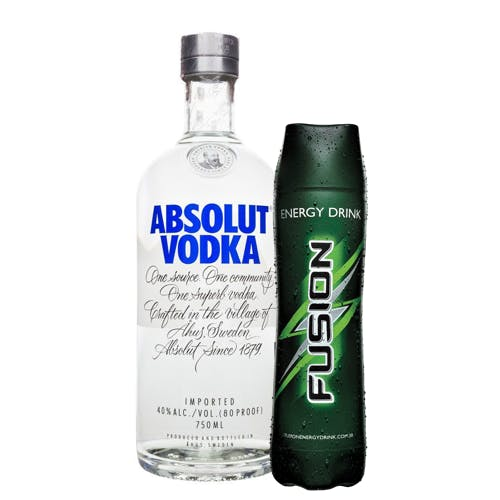 Combo Fusion + Absolut  (1 Fusion 1L + 1 Absolut Vodka Original Sueca 750ml)