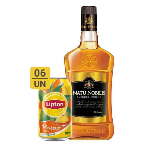 Combo Lipton + Nattu Nobilis (6 Lipton 340ml + 1 Natu Nobilis Whisky Nacional 1L)