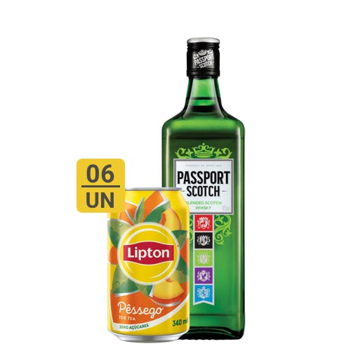 Combo Lipton + Passport Scotch (6 Lipton 340ml + 1 Passport Scotch Whisky Escocês 670ml)