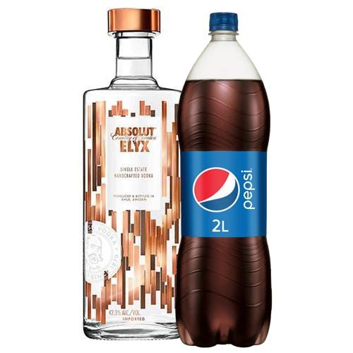 Combo Pepsi + Absolut  (1 Pepsi 2L + 1 Absolut Elyx Vodka Sueca  1,5L)
