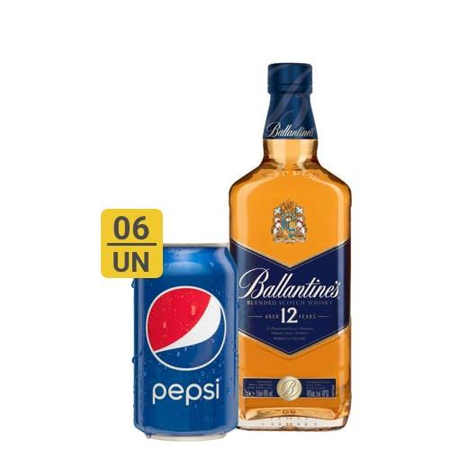 Combo Pepsi +  Ballantines (6 Pepsi 350ml + 1 Whisky Ballantines 12 anos 750ml)