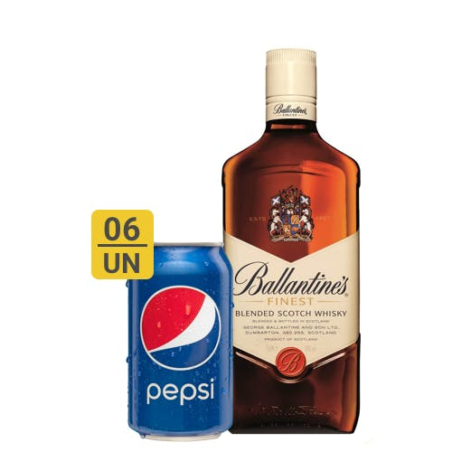Combo Pepsi +  Ballantines (6 Pespi 350ml + 1 Whisky Ballantines Finest 750ml)
