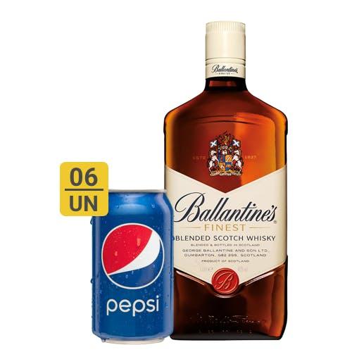 Combo Pepsi +  Ballantines (6 Pespi 350ml + 1 Whisky Ballantines Finest 1L)