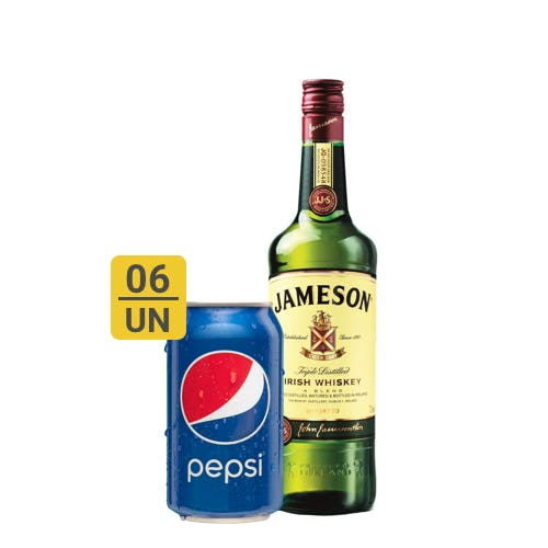 Combo Pepsi +  Jameson (6 Pespi 350ml + 1 Whisky Jameson 750ml)