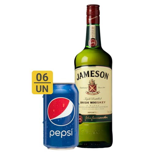 Combo Pepsi +  Jameson (6 Pespi 350ml + 1 Whisky Jameson 1L)