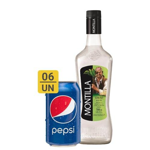 Combo Pepsi +  Montilla (6 Pespi 350ml + 1 Montilla Limão Rum Nacional 700ml)