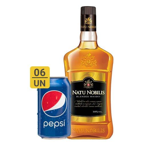 Combo Pepsi +  Nattu Nobilis (6 Pespi 350ml + 1 Natu Nobilis Whisky Nacional 1L)