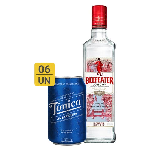 Combo Tônica +  Beefeater (6 Tônica 350ml + 1 Beefeater Dry Gin Inglês 750ml)