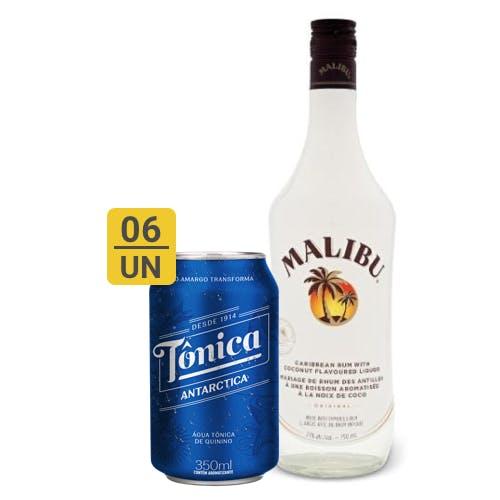 Combo Tônica +  Montilla (6 Tônica 350ml + 1 Malibu Rum Curibenho 750ml)
